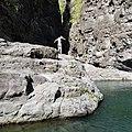 Plongeur sur le bassin du lieu-dit Les Deux-Bras, mai 2019, Reunion island.jpg