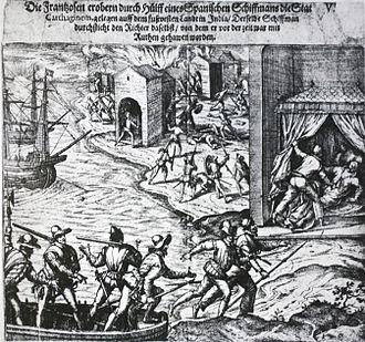 Pedro de Heredia - Plunder of Cartagena in 1544 by Jean-François Roberval