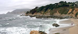 Montara State Beach - Image: Point Montara Panorama