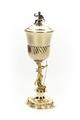 Pokal med skaft av Neptunus och lock av förgyllt silver och svart figur - Skoklosters slott - 91937.tif