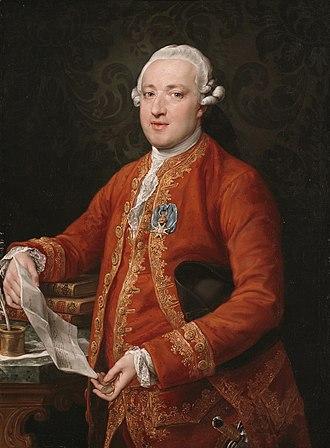 José Moñino, 1st Count of Floridablanca - Portrait by Pompeo Batoni, c. 1776