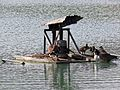Pond aerator waterbird platform at Matching, Essex, England 04.jpg