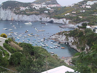 Ponza - view of one of the most beautiful bays located in Le Forna area