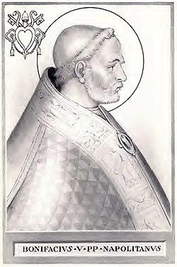 https://upload.wikimedia.org/wikipedia/commons/thumb/2/25/Pope_Boniface_V.jpg/250px-Pope_Boniface_V.jpg