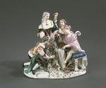 Porslin. Figurgrupp - Amor som abbé - Hallwylska museet - 89246.tif