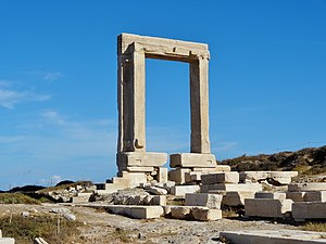 Naxos - Apollo Temple's entrance (Portara)