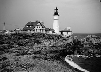 Portland Head Light - Image: Portland Head Light 1933