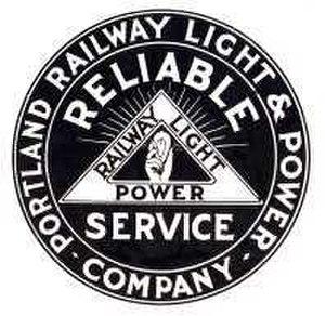 Portland Railway, Light and Power Company - Image: Portland Railway Light & Power logo