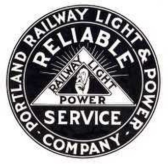 Portland Railway, Light and Power Company - Image: Portland Railway Light & Power logo