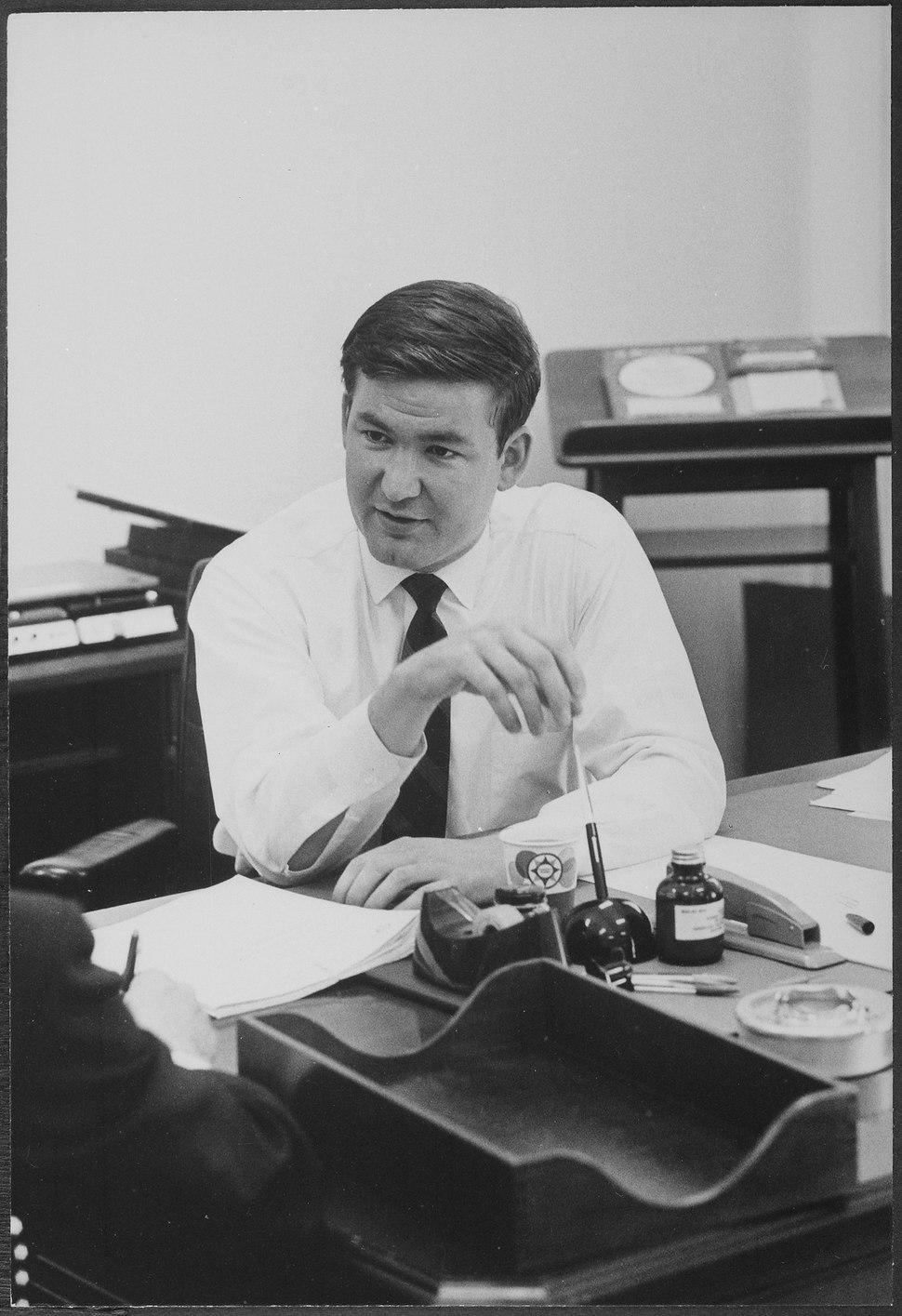 Portrait of Patrick Buchanan, presidential aide - NARA - 194638