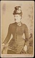 Portrait of lady - carte de visite by EC Porter, Ealing, London (8521529947).jpg