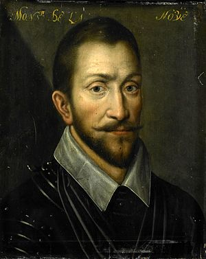 Battle of Borgerhout - Anonymous portrait of François de la Noue, c. 1609–33. Rijksmuseum Amsterdam.