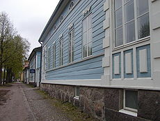 Finnish towns were built of wood, often in the Neoclassical style. (Studio of W Runeberg on Porvoo)