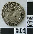 Post Medieval Coin , Halfgroat of Henry VIII (obverse) (FindID 609413).jpg
