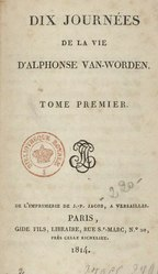 Jan Potocki: Dix journées de la vie d'Alphonse Van Worden