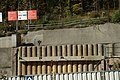 Praha, Motol, Nemocnice Motol, staveniště metra, zpevnění svahu.jpg