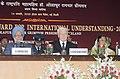 Pratibha Devisingh Patil, the President, Iceland, Dr. Olafur Ragnar Grimsson and the Prime Minister, Dr. Manmohan Singh at the Jawaharlal Nehru Award for International Undrestanding-2007 function, in New Delhi.jpg