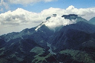 Mount Pinatubo - Pinatubo in April 1991, a few months before the eruption.