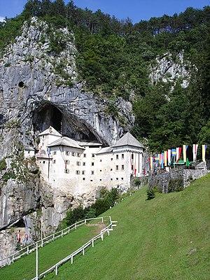 Cave castle - Predjama grotto castle near Postojna (Adelsberg), Slovenia