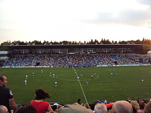 Saputo Stadium - Image: Preferential tribune from south tribune