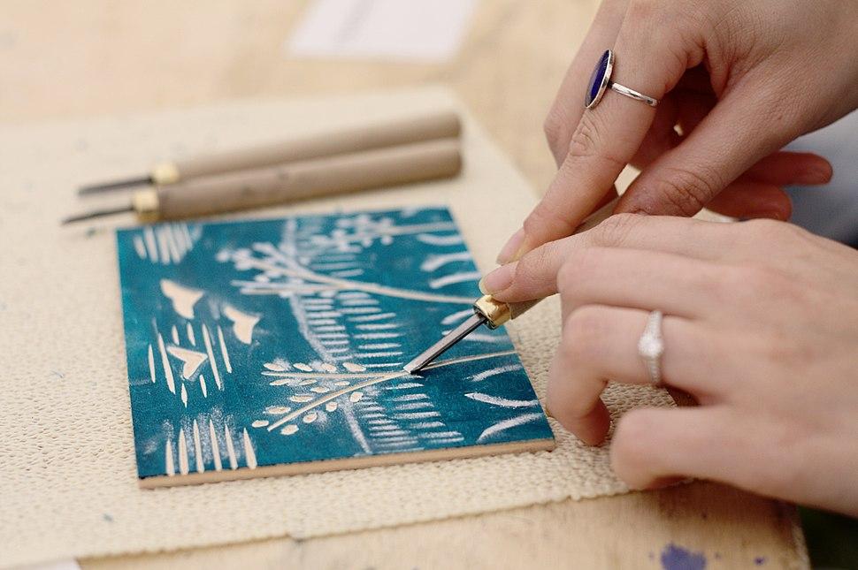 Preparing a Woodcut Design