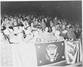 President Harry S. Truman attending a baseball game, Griffith Stadium, Washington, DC. A close-up of President Truman... - NARA - 199867.tif