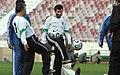 President Mahmoud Ahmadinejad, Iran's national football (soccer) team - 28 February 2006 (20 8412090596 L600).jpg