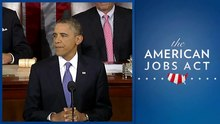 President Obama presenting the American Jobs Act to Congress