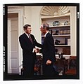 President Ronald Reagan shaking hands with Senator Slade Gorton.jpg