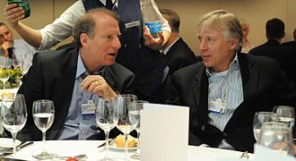Richard N. Haass - Richard Haass talks with President of Columbia University Lee Bollinger