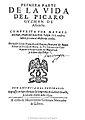 Primera parte de la vida del picaro Guzman de Alfarache 1599 tp.jpg