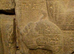 Victory stele of Esarhaddon - Closeup of prince Ushankhuru