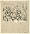 "Print, Etching. The Graces and Cupid decorating two crowned chiffres. Dedicatory illustration of the ""Dictionnaire de chiffres."", 1767 (CH 18309693).jpg"