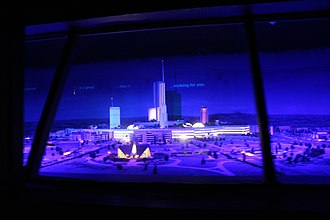 Tomorrowland Transit Authority PeopleMover - The early concept model for Epcot seen during the ride