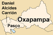 Map of the Pasco region showing its provinces