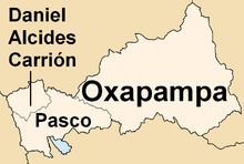 Oxapampa Peru Map.Department Of Pasco Wikipedia