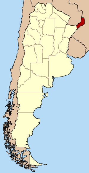 Salient (geography) - Misiones Province within Argentina