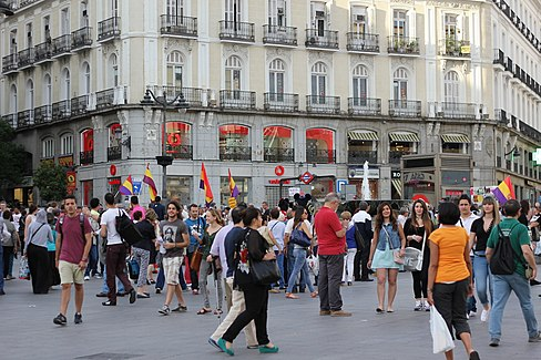 Puerta del Sol Franco Protest May 15 2014 16.JPG