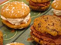Pumpkin whoopie pies, black and white, October 2009 (3).jpg
