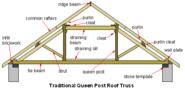 Queen-post-truss