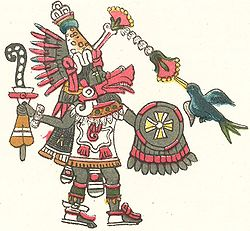 Quetzalcoatl as depicted in the Codex Magliabechiano.