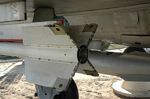 Rolleron - Rollerons on the fins of the AA-2 Atoll missile.
