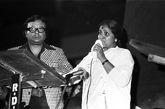 Asha Bhosle - RD Burman and Asha Bhosle at Mood Indigo in 1981