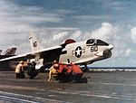 RF-8G Crusader of VFP-63 is launched from USS Constellation (CV-64) in 1977.jpg