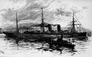RMS Etruria - 1891 Illustration of Etruria