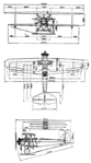 Raab-Katzenstein RK.2 Pelikan 3-view Le Document aéronautique January,1927.png