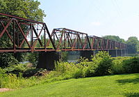 Railroad bridge over the West Branch Susquehanna River in Lewisburg.JPG