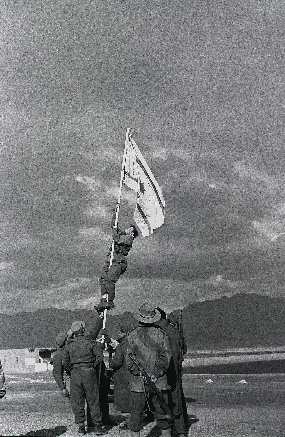 Raising the Ink Flag at Umm Rashrash (Eilat)