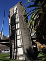 Raising the Rattler Pole – The Last of the Connies artwork on the corner of Spencer Street and Flinders Street.jpg