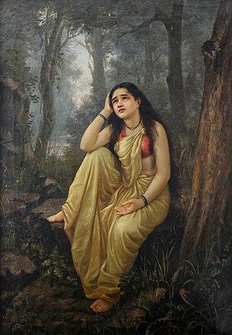 Aundh, Satara - Damayanti Vanavas by Raja Ravi Varma